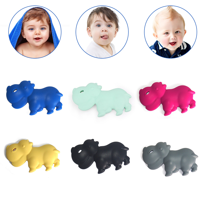 Baby Cartoon Car Shape Teethers Kids Silicone Teether Toys Baby Dental Care Cute Mini Car Teether Help Teething Growth Toy