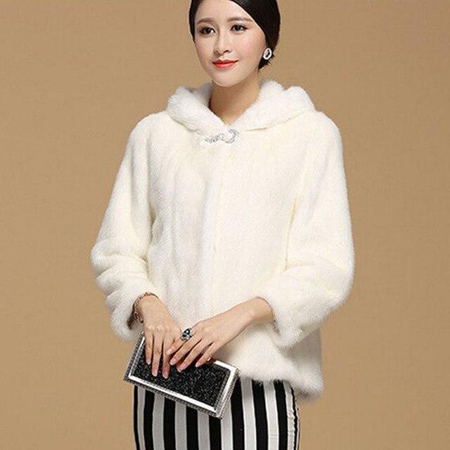 new product cbab5 b7ece US $47.85 27% di SCONTO Plus Size 4XL 5XL 6XL Inverno Pelliccia Sintetica  Cappotto Con Cappuccio nero Faux Fur Jacket Per Le Donne Pelliccia di  Visone ...