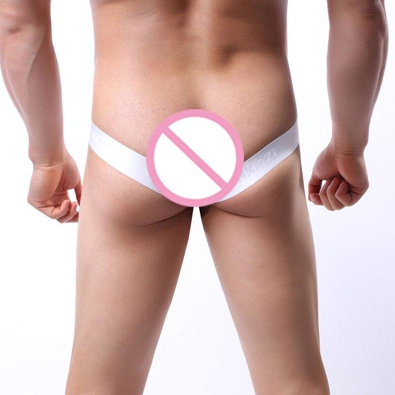 G String Men Sexy Thongs Jockstrap Men's Underwear Cuecas Hombre  Tanga Open Butt Briefs Mens G-string Smooth Panties Underpants