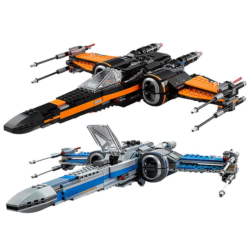 New First Order Poe's X-wing Fighter fit legoings star wars figures city model building blocks bricks diy Toy gift kid set цена