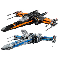 New First Order Poe's X wing Fighter fit legoings star wars figures city model building blocks bricks diy Toy gift kid set