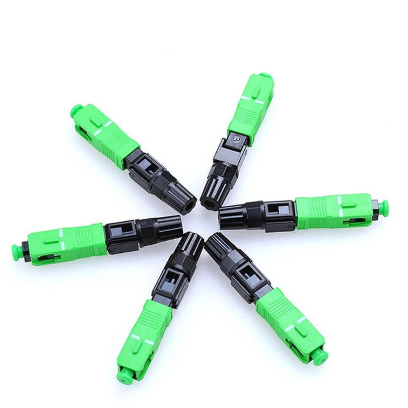100 stücke APC Simplex modus Fiber optic Adapter Optische Faser Koppler Flansch Stecker