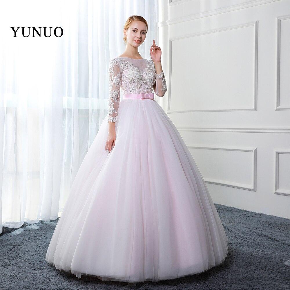 Popular Pink Long Sleeve Ball Gown-Buy Cheap Pink Long Sleeve Ball ...