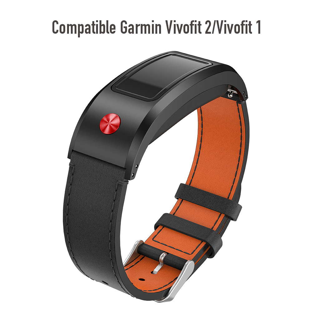 Leather Band for Garmin Vivofit 2 Strap Replacement Leather Watchband with Metal Clasp for Garmin Vivofit 2 Wristbands ключ разводной зубр эксперт 27255