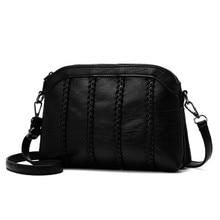 Casual Evelope Design Small Phone Bag Female Soft Leather Women Crossbody Messenger Bag Single Shoulder Crossbody Black Handbags