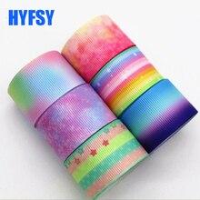 Hyfsy 10002 градиент цвет ленты 10 ярдов 25 мм DIY волос лук материалы подарочная упаковка Grosgrain ленты