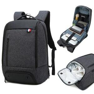 Image 1 - Reise Laptop Rucksack Smart Tasche 15,6 Notebook Rucksäcke Männer Frauen Halten Kühlen Große Taschen Außen Waterpoof Schwarz Bagpack Business