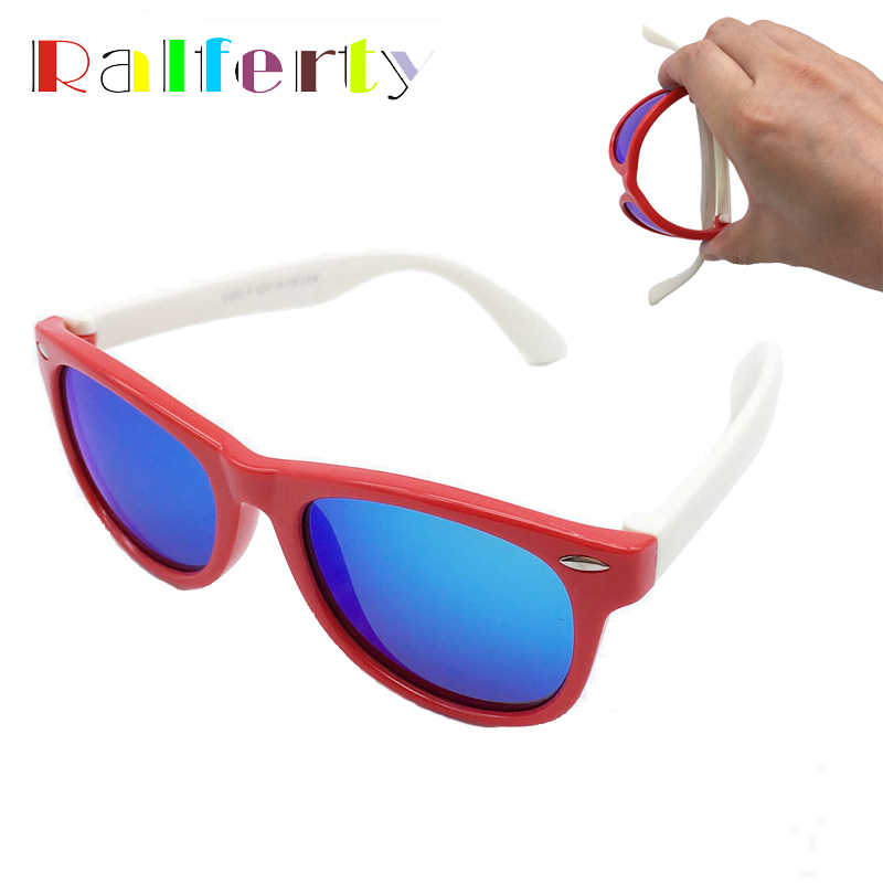 Ralferty Children Kids TR90 Polarized Sunglasses Girls Boys Mirrored Sport Sun Glasses Polaroid Shades Goggle Oculos Infantil
