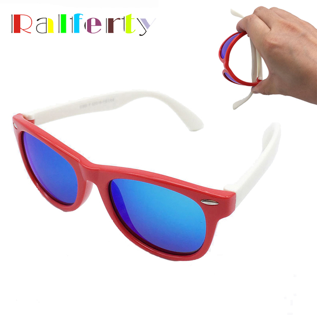 ed0e4cd2bf Ralferty Children Kids TR90 Polarized Sunglasses Girls Boys Mirrored Sport  Sun Glasses Polaroid Shades Goggle Oculos Infantil