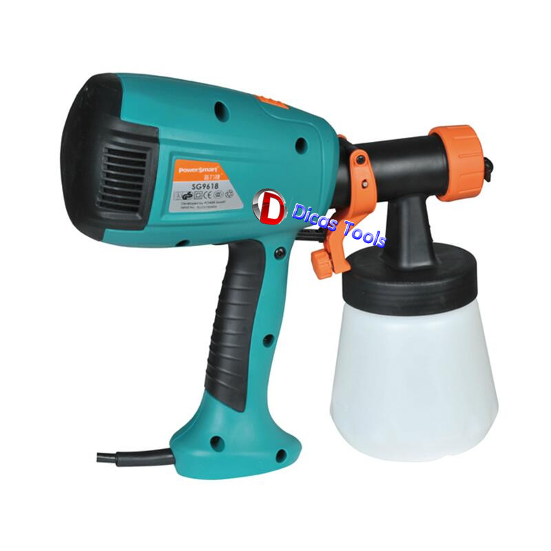 The latest version high quality 450W air brush electric spray gun SG-9618 paint spray gun 700ml 220-240V with a funnel