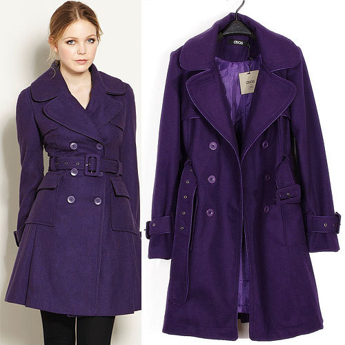 Big brand quality fabrics Ladies warm winter coat Double breasted ...