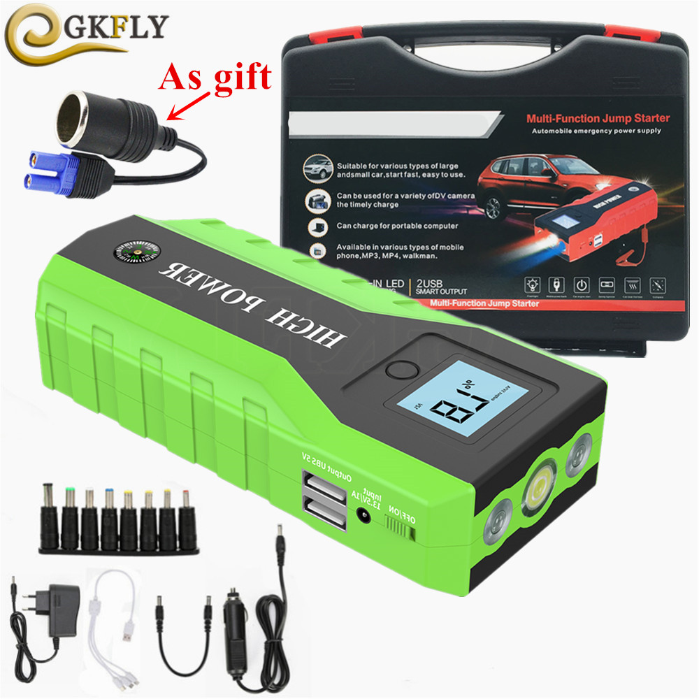68800mAh Car Jump Start Emergency Charger Booster Power Bank Battery 3LED 4USB V