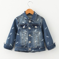Kids Jean Jacket Boys Denim Coats For Girls Little Beard Print Famous Brand Style To Children