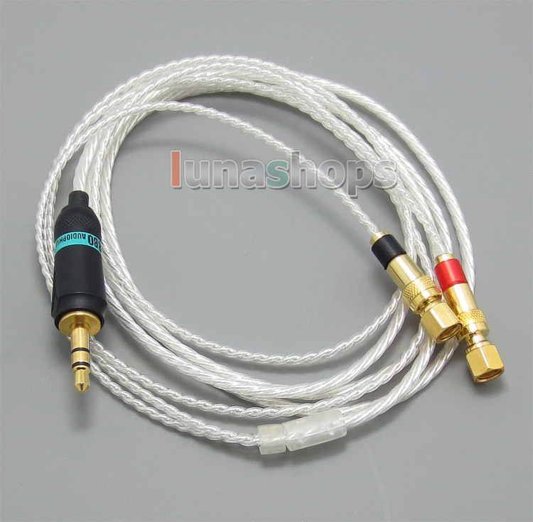 3.5mm 5N OCC + Silver Plated Copper Cable For HiFiMan HE400 HE5 HE6 HE300 HE560 HE4 HE500 HE600 Headphone LN004820 hd650 hd600 hd580 hd525 headphone upgrade cable occ silver plated