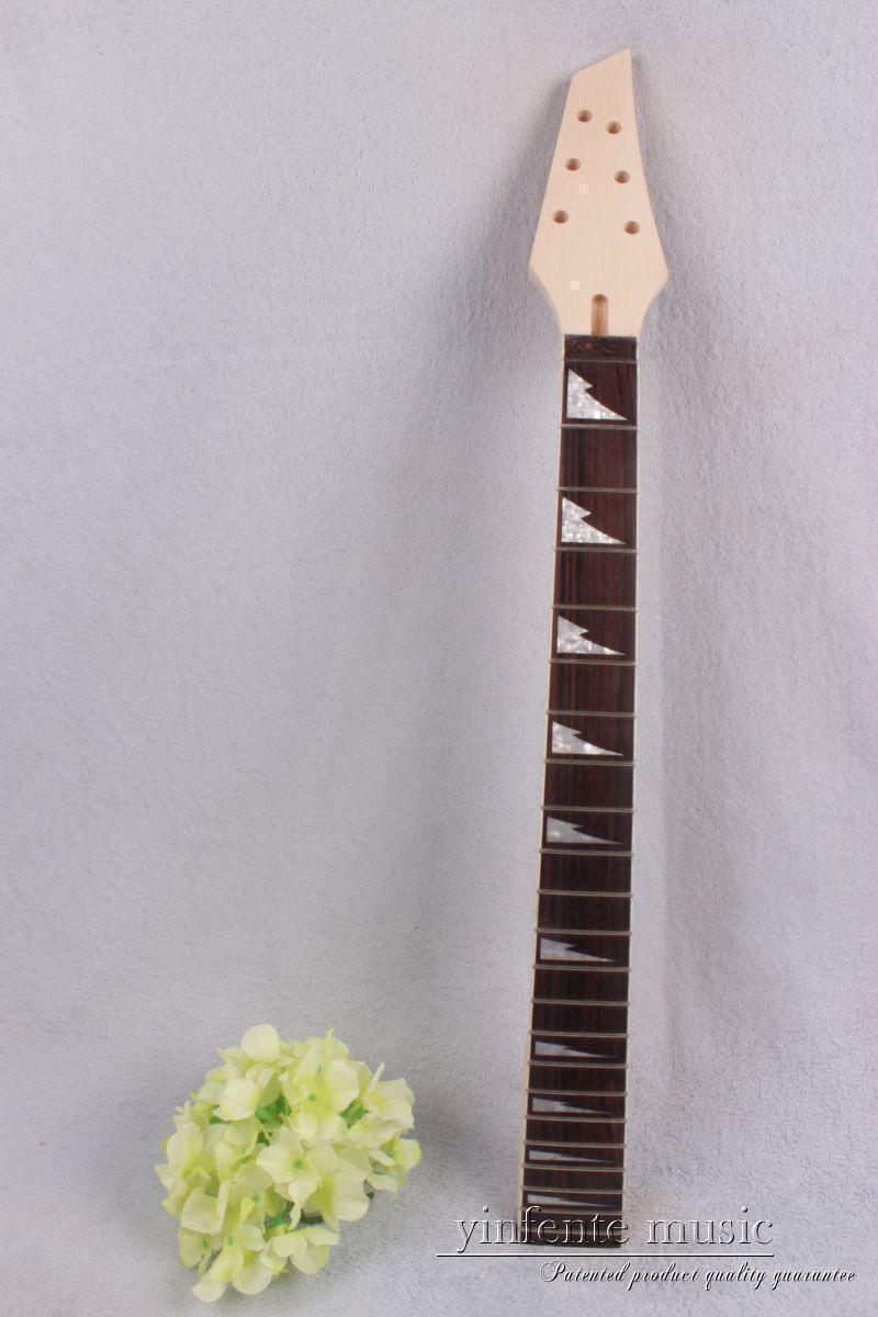 New 1pcs electric guitar neck maple wood 22 fret 25.5'' rose wood Truss Rod #740 remo powerstroke® 3 18' clear