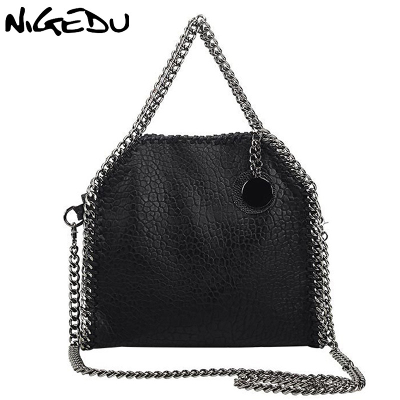 NIGEDU Design Women Handbag Small Bag Female Shoulder Bag Chain Soft Pu Leather Crossbody Messenger Bags Women Totes Clutches halloween skull printing women crossbody shoulder bag pu leather skull design women messenger bags handbag and purses