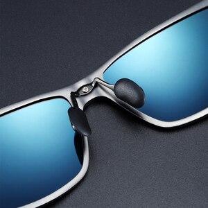 Image 2 - BARCUR 알루미늄 편광 선글라스 남자 편광 된 태양 안경 광장 고글 안경 Gafas oculos de sol masculino