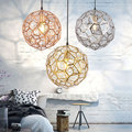 Современный салон подвесные светильники минималистичный скандинавский E27 гостиная Лофт комнатная Подвесная лампа алмазный шар LED подвесно...