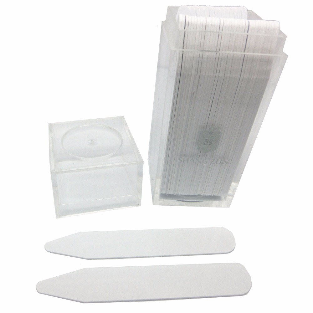SHANH ZUN 50x White Formal Shirt Collar Plastic Stays Straighteners Stiffeners 5 Sizes ...