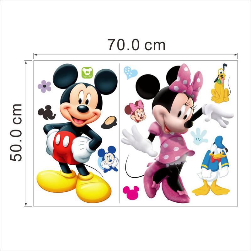 HTB1RsdNLVXXXXbpXXXXq6xXFXXXD - Cartoon Mickey Minnie Mouse wall sticker for kids room