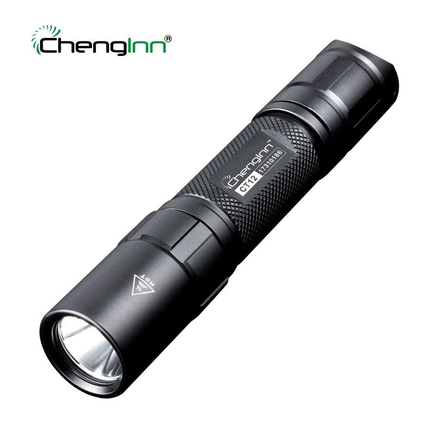 Chenglnn Polícia Tactical Flashlight 1200lm Poderosa Auto Defesa CREE LEVOU Mergulho Da Tocha Militar lanterna 6 modo 1*18650 Bateria