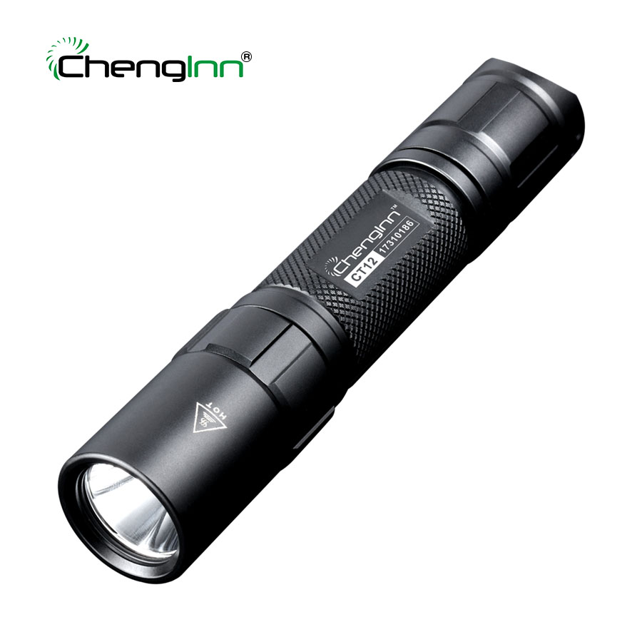Chenglnn Tactical Police Flashlight 1200lm Powerful Self Defense CREE LED Torch Diving Military lanterna 6 mode 1* 18650 Battery