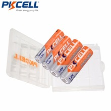 PKCELL NIZN 1.6V 2500MWH AA Rechargeable Battery and 900mwh AAA Rechargeable Battery(2+2)
