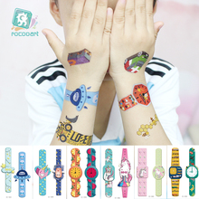 Cartoon Tattoo Fake Watch Temporary For Children Waterproof Sticker Body Art Taty Kids Gift Hand Tatuage