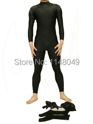 Free Shipping Lycra Spandex Zentai Suit Bodysuit Removable Hood Stockings and Gloves Tight