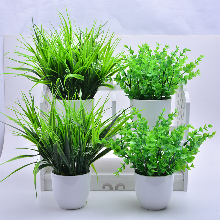 Flowers Plant Fake-Grass Plastic Home-Decoration Best-Quality by 5-Types Direct-Sold