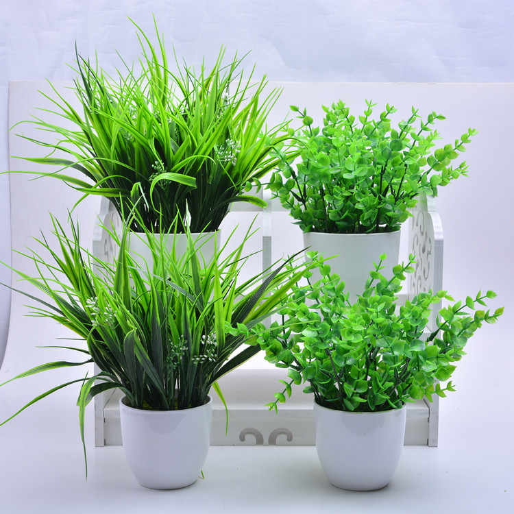 2018 New 5 Types Artificial Grasses Plastic Plant Fake Grass Home Decoration Flowers  Best quality direct sold by factory