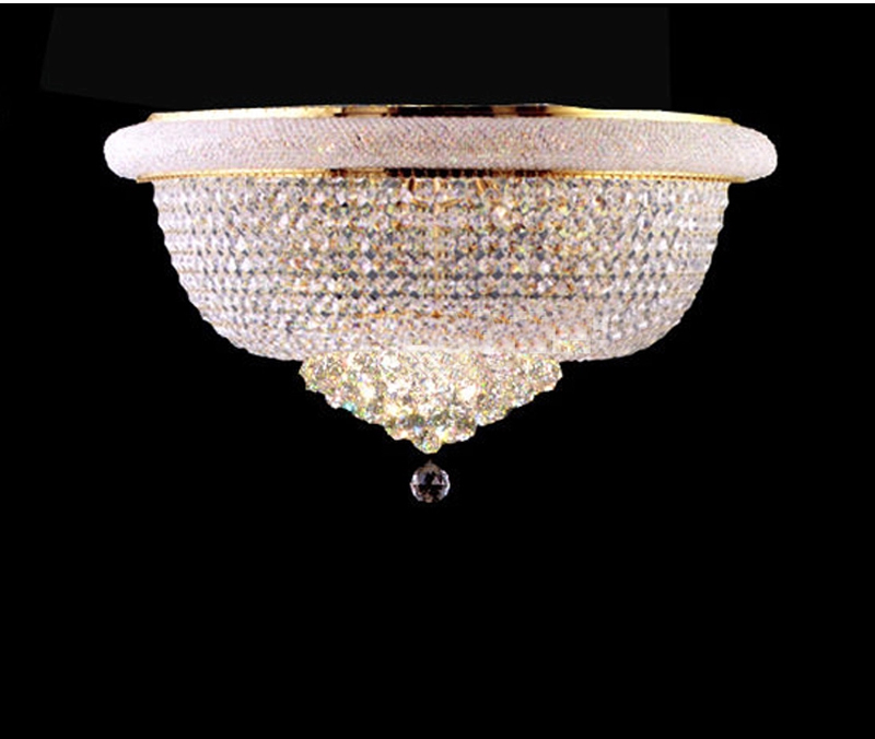 Phube Lighting Empire Gold Crystal Ceiling Light Luxury K9 Crystal Ceiling Lamp Lighting Lustre Free Shipping k9 puppy gold