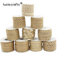 1Roll(5Meter) Natural Hemp Rope Burlap Hessian Jute Twine Ribbons Cord DIY Gift Wrapping String Thread Wedding Accessories V0805