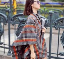 Big Squares Fashion Lady Women Tartan Scarf