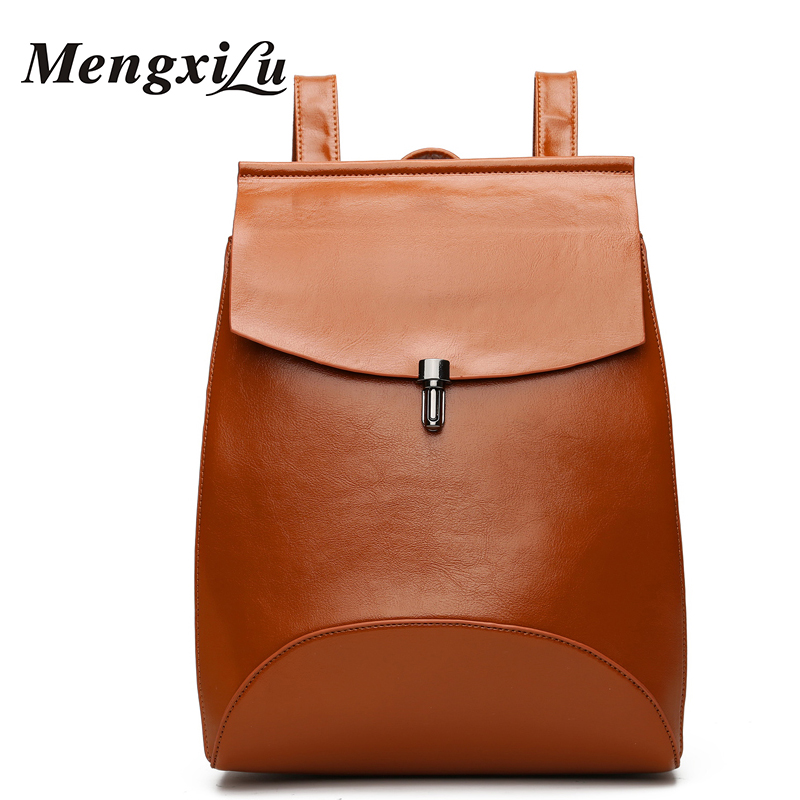 High quality black women shoulder bags casual women pu leather backpack zipper for teenage girls school