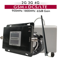 Russia Dual Band Signal Booster GSM 900+DCS LTE 1800mhz Cell Phone Repeater 2G 3G 4G Mobile Cellular Amplifier Antenna Set 65dB