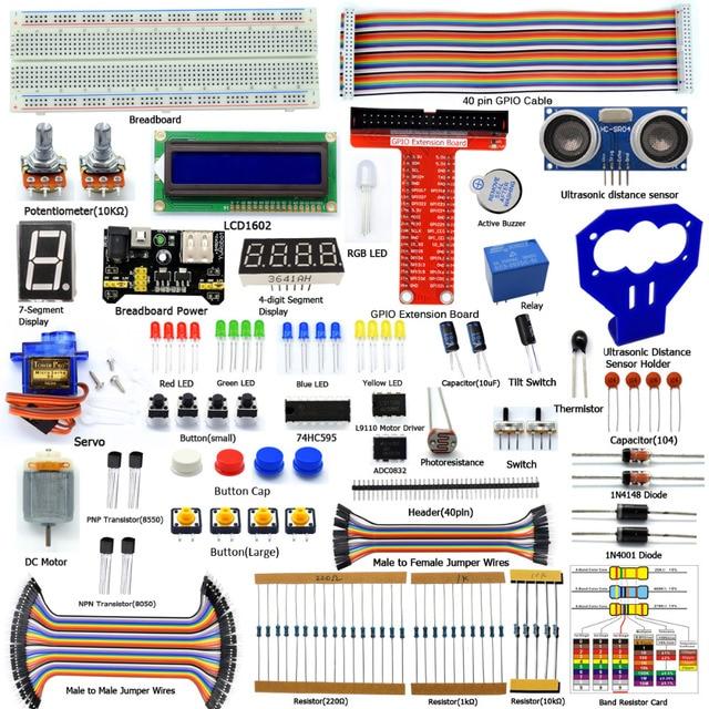 Adeept  New DIY Electric Raspberry Pi 3 Ultrasonic Distance Sensor kit for Raspberry Pi 3 2 Model B B+ Freeshipping Book diykit