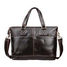 Genuine Leather Bag Fashion Handbags Cowhide Men Crossbody Bags Men's Travel Bag Tote Ipad Briefcases Men Bags NB025