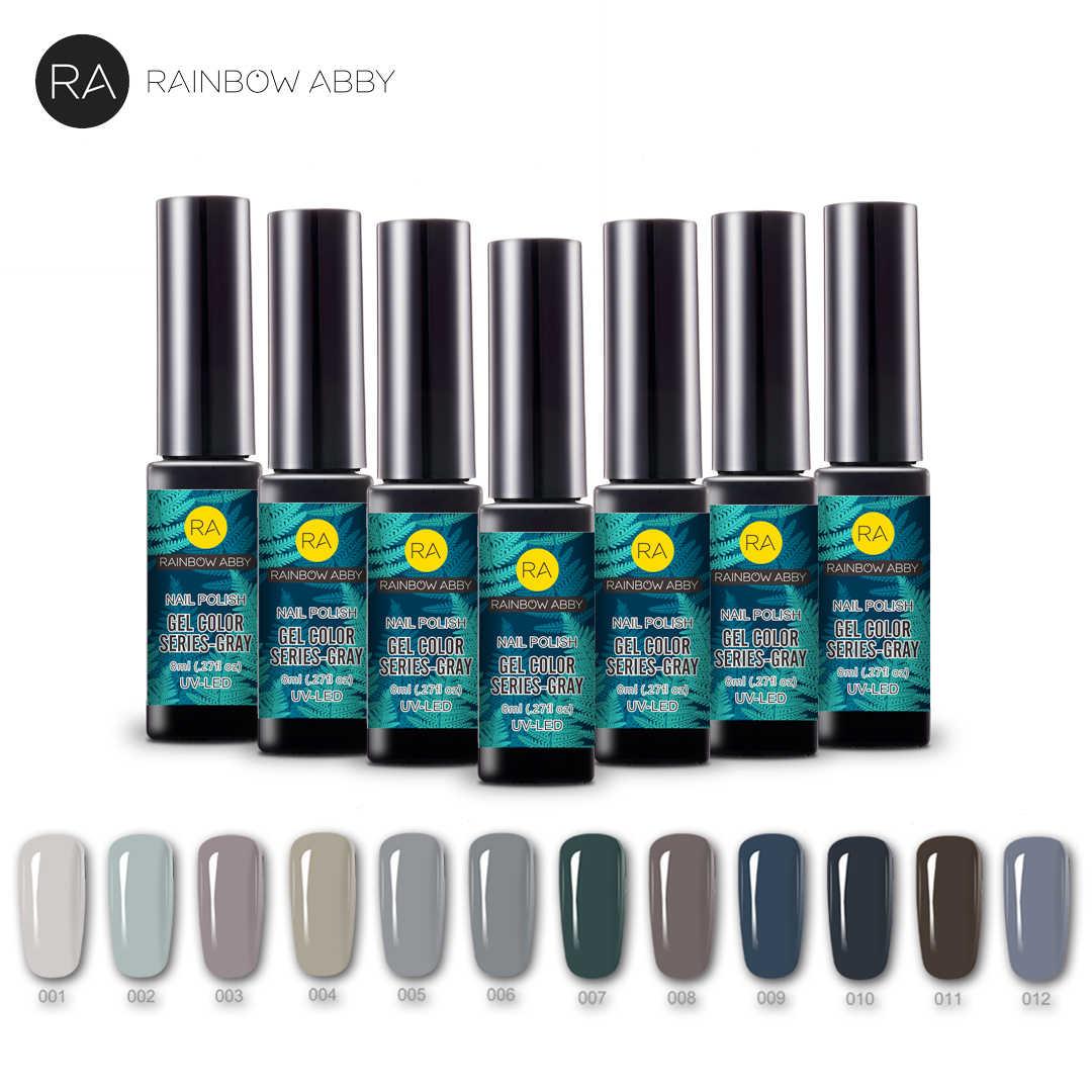 Żel do paznokci polski 8ml szary kolor serii UV LED Manicure do paznokci lakier do paznokci płaszcz Soak off kupić 2 dostać 1 za darmo