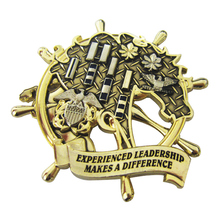 Custom Stamping 3D Gold Old Metal Challenge Coin