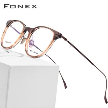 2fc1f881c5 B montura de gafas de titanio puro hombres acetato ultraligero mujeres 2018  nueva miopía redonda Vintage gafas de prescripción óptica