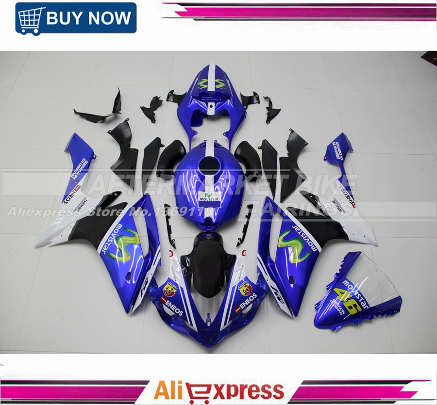 Injection <font><b>Fairings</b></font> For <font><b>Yamaha</b></font> YZF1000 <font><b>R1</b></font> 07 08 2007 <font><b>2008</b></font> Plastics ABS Motorcycle <font><b>Fairing</b></font> Kit Bodywork Cowling image