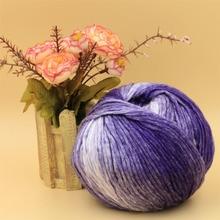 2 balls/lot 260g Hot soft natural silk wool yarn for hand knitting thick crochet wool yarn skein scarf yarn katoen garen,S2114