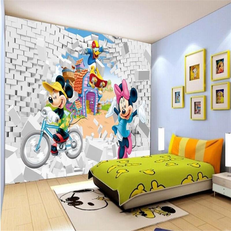 Photo background silk wallpaper  American cartoon Minnie children's room Kinds wall art mural murals-3d wall papers home decor ada instruments tempro 300
