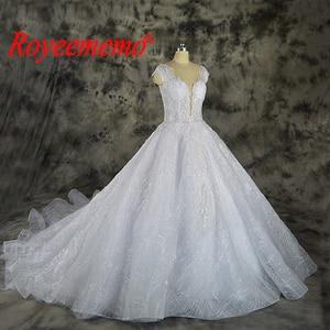 Image 2 - Vestido דה Noiva תחרה נוצצת חתונה שקוף למעלה מיוחד תחרה חתונה שמלת תפור לפי מידה מפעל סיטונאי מחיר כלה שמלה