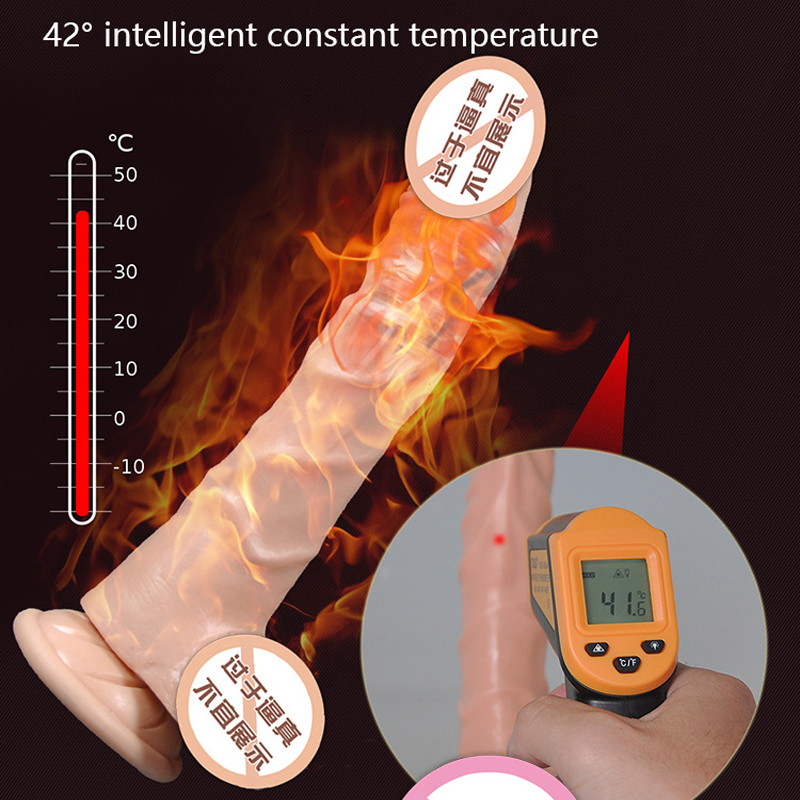 Realistic Penis With USB charging Heating soft dildo artificial Vibrating dildo suction cup dildo real dildos