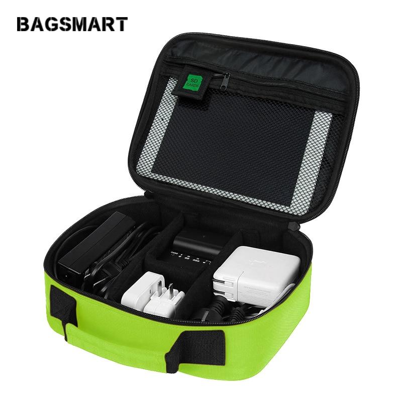 BAGSMART elektronisko piederumu organizatoru soma cietā diska organizētājam Austiņu lādētājs Datu kabelis USB ceļojuma somiņa Digitālais soma