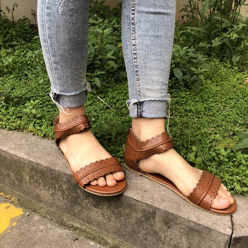 Womens-Summer-Sandals-Flat-Ankle-Strap-Casual-Shoes-Back-Zipper-Zip-up-Fashion-Footwear-AB17 (2)