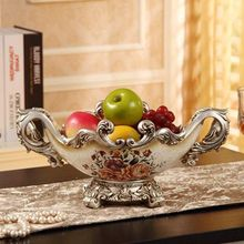 Fashion fruit plate luxury quality royal vintage dried basin decoration big wedding gift