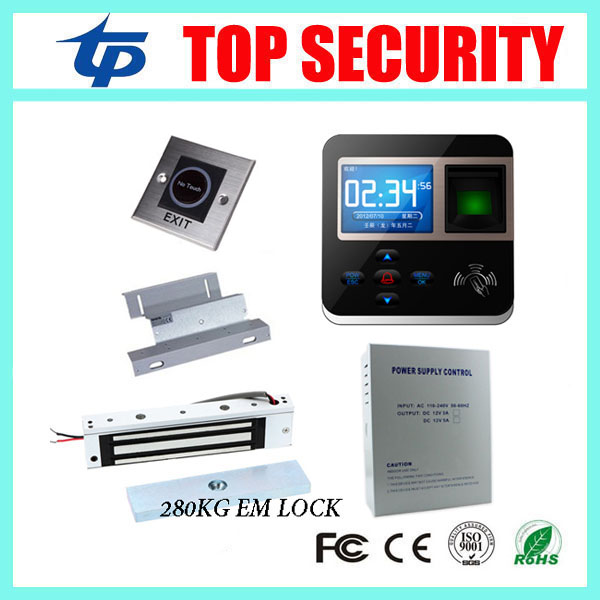 Free Software TCP/IP 3000 Card Capacity Standalone Fingerprint Access Control Door Lock DIY F211 RFID Card Access Control System 3000 users fingerprint access control with tcp ip software door access system with rfid card reader